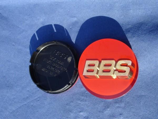 BBS Emblem Rot/Gold 56mm 3D 56.24.012R Nabenkappe, Symbolscheibe