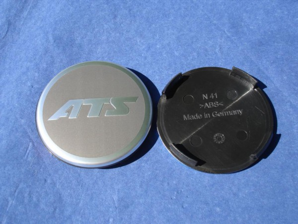 ATS Nabenkappe N41 63,8 mm grau Logo Metall