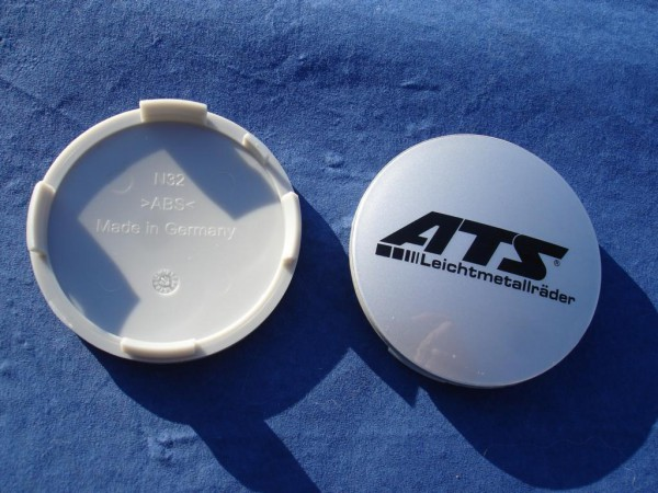 ATS Nabenkappe N32 silber Logo schwarz