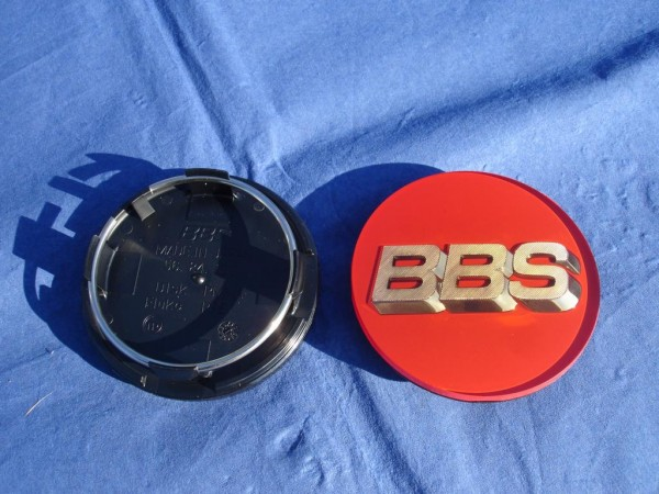 BBS Emblem Rot/Gold 70mm 3D 56.24.120R Nabenkappe, Symbolscheibe