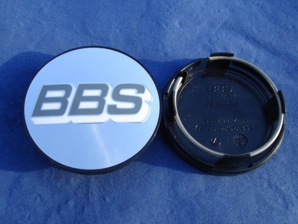 BBS Emblem Chrom/Weiß 70mm 09.24.486 Nabenkappe, Symbolscheibe
