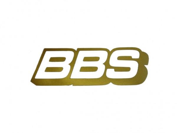BBS Felgenbett Aufkleber Gold 80mm x 26mm