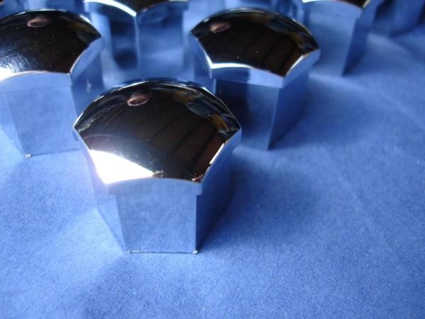 Radschrauben-Kappen Set SW 17 Chrom 20 Stück