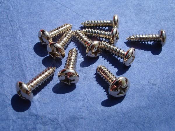 Blechschraube 5,5x19mm Edelstahl vergoldet
