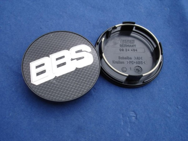 BBS Emblem Carbon/Chrom 70mm 09.24.467 Nabenkappe, Symbolscheibe