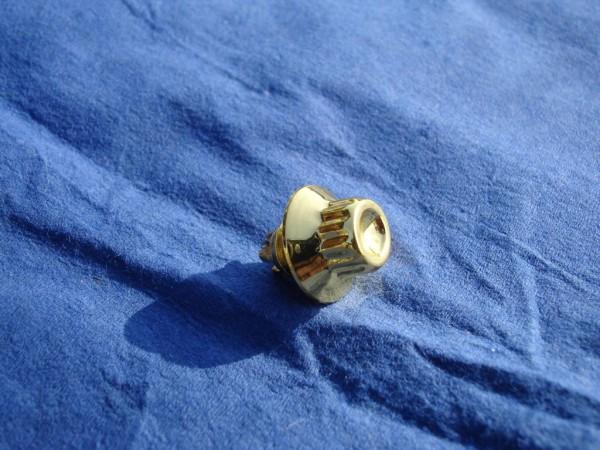 *Außenzwölfkant Zierstopfen 7mm Schaft 13mm Kopf Gold