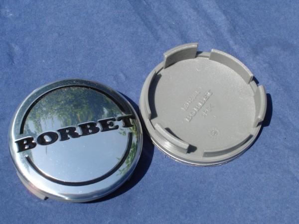 Borbet Nabenkappe 55mm Silber/Schwarz